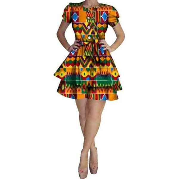 Zita dashiki mini dress - Lyndaz