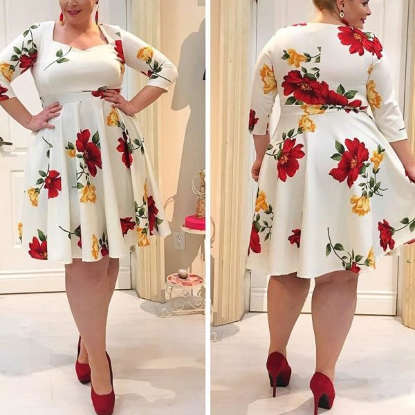 Autumn Floral Dress - Lyndaz