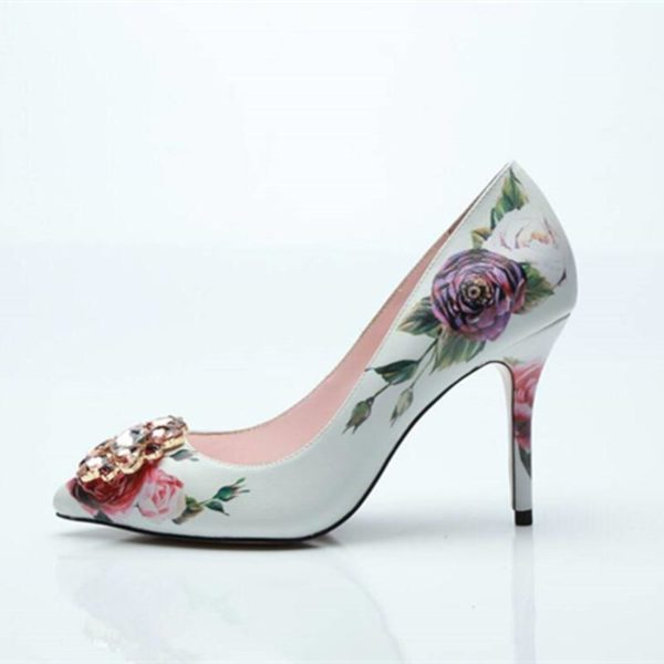 Lavender floral shoes - Lyndaz