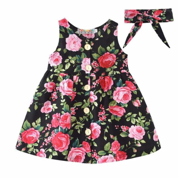 Kayla Floral Dress - Lyndaz
