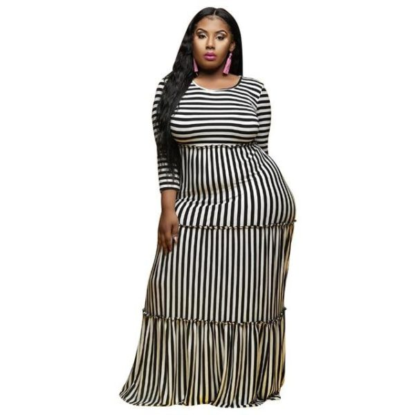 Scarlett Striped Maxi - Lyndaz