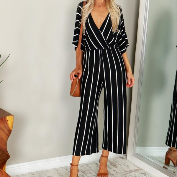 Valerie Striped Jumpsuits - Lyndaz