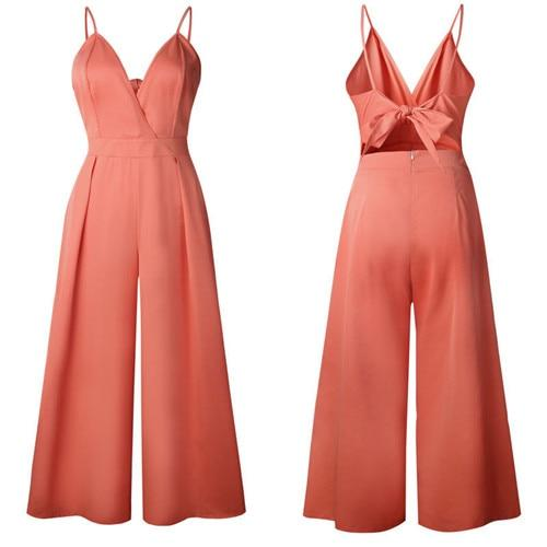Laila Backless Jumpsuits - Lyndaz