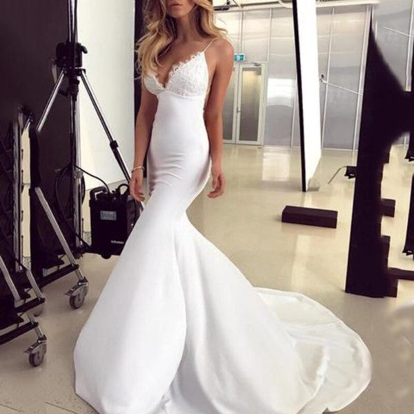 Sofia Mermaid Wedding Dress - Lyndaz