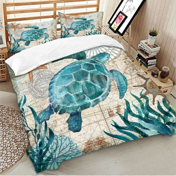 Turtle Duvet Cover Set - Lyndaz