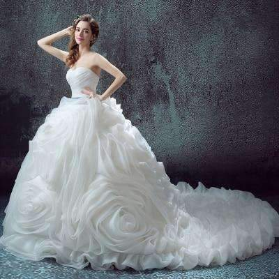 Rebecca Ruffles Wedding Dress - Lyndaz