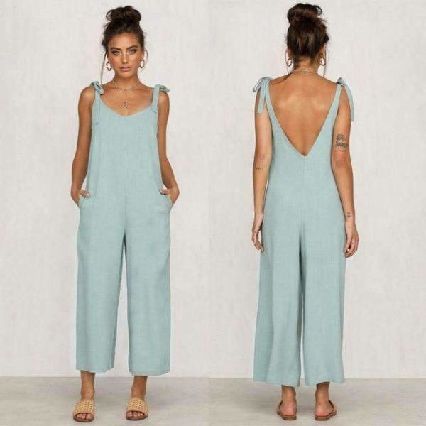 Luna Backless Overalls - Lyndaz